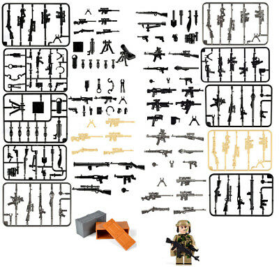 Lot of Military SWAT Army Series Arms Weapons  Fit Building Block Toy