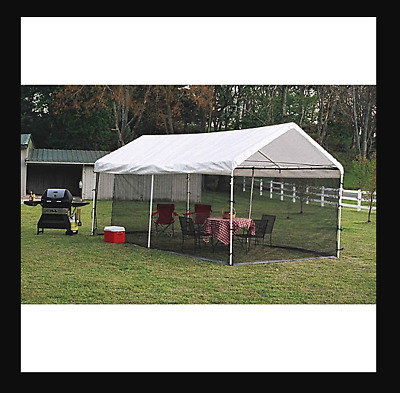 ShelterLogic Canopy Screen Kit, Frame Post Dome, Full Mosquito Netting Mesh