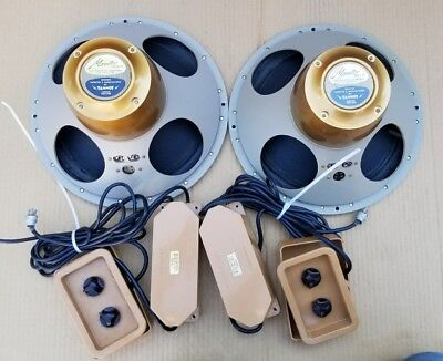"Vintage Tannoy Monitor Gold 12"" Speakers Pair Exct"