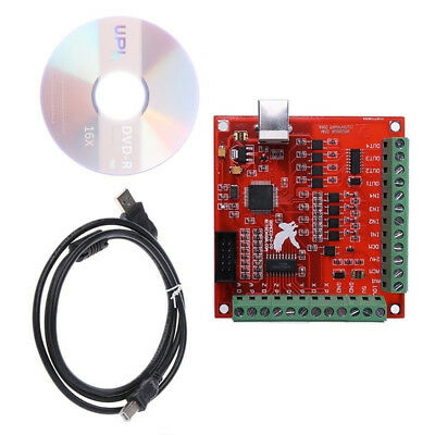 NEW CNC USB MACH3 100KHz Breakout Board 4Axis Interface Driver Motion Controller