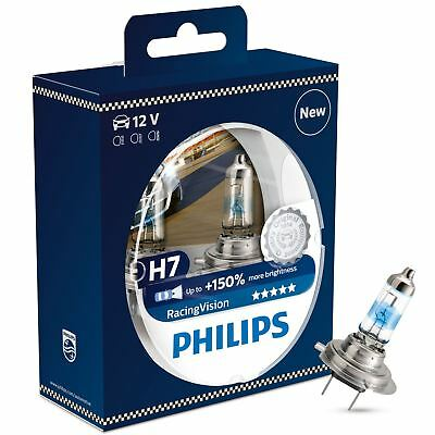 Philips Racing Vision H7 (477) Headlight Bulb 12972RVS2 Twin Pack