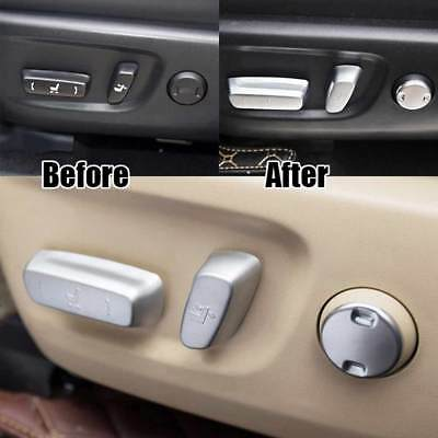 fit 14-17 Toyota Highlander Matte Seat Adjustment Knob Button Switch Covers Trim