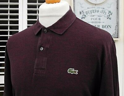 Lacoste Port Marl L/S Pique Polo - XXL - Size 7 - Ska Mod Scooter Casuals Skins