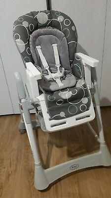 Infasecure Melody Deluxe Baby High Chair -Grey Bubbles
