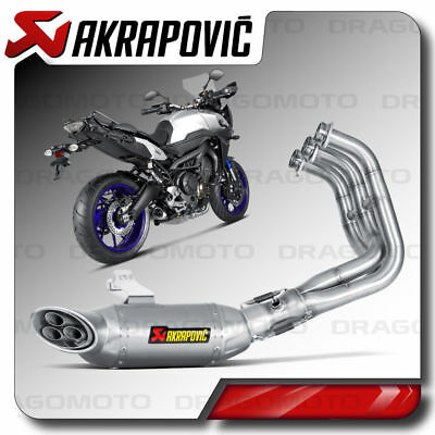 yamaha mt 09 tracer akrapovic exhaust system s y9r3. Black Bedroom Furniture Sets. Home Design Ideas