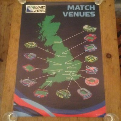 Rugby World Cup 2015 Rare Original Stadium Poster Very Good Condition