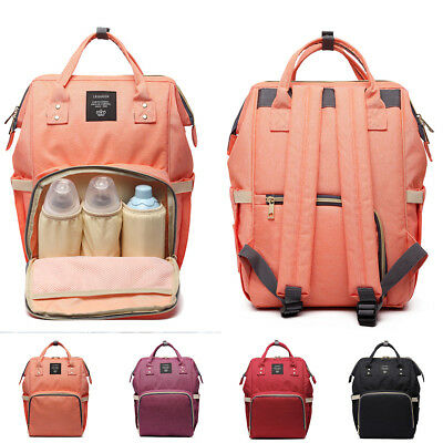 Large Capacity Mummy Baby Nursing Maternity Diaper Bags Nappy Changing Backpack