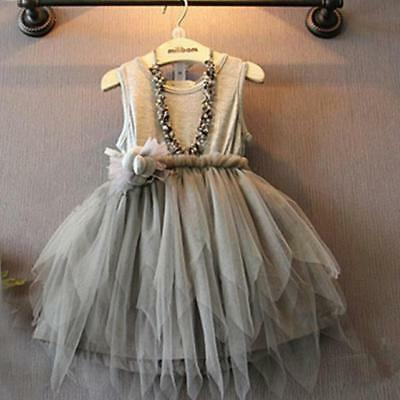 Kids Girls Toddler Baby Princess Dress Pageant Wedding Party Tulle Tutu Dresses