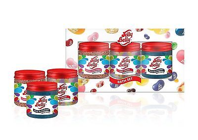 DAMAGED BOX -  Jelly Belly Scented Bath Bathing Gift Set Collection Pack of 3