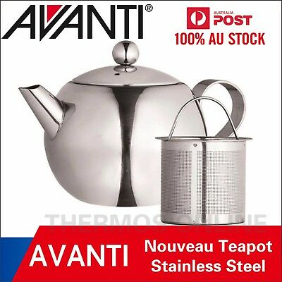 NEW AVANTI 500ml/1000ml Nouveau Stainless Steel Tea Pot with Infuser100% Genuine