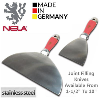 NELA Stainless Steel One Piece Forged Putty Joint Filling Tool Trowel,All Sizes