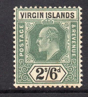 Virgin Islands 2/6 Stamp c1904 Mounted Mint (tiny tone)