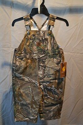 Carhartt Bib Overalls 100% Cotton Infants/Toddlers/Kids Real Tree Camo NWT