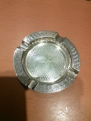 Lovely collectable antique solid silver ash tray. Hallmarked. Good condition.