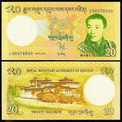 BHUTAN 20 NGULTRUM 2006 P 30 REPLACEMENT Z//4 AUNC
