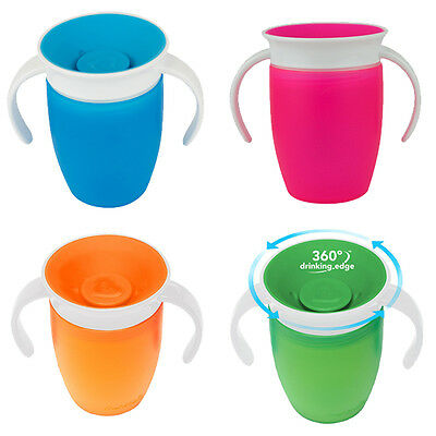 Munchkin Miracle 360 degree Baby/Child/Kids Trainer Cup with Handles *4 Colours