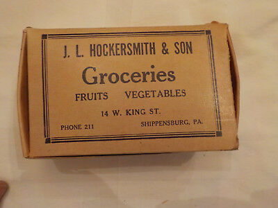 Vintage Food Box J.l.hockersmith & Son Groceries Shippensburg Pa.
