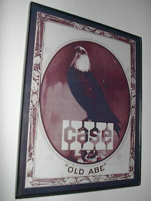Case Abe the Eagle Farm Tractor Barn Parts Framed Advertsing Print Man Cave Sign