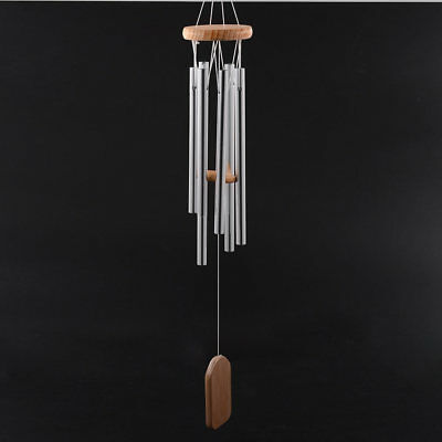 Amazing Deep Relaxing 6 Tubes Chapel Melody Bells Wind Chimes Home Decor