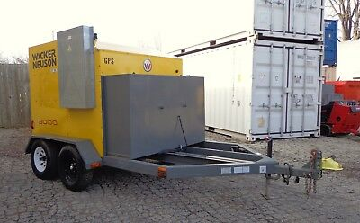 2010 Wacker Neuson E3000 Towable Hydronic Ground Heater Cure Concrete