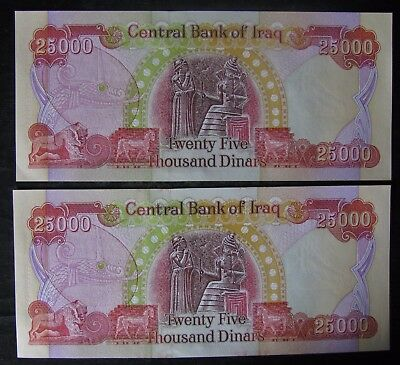 2x25,000 New Iraqi Dinar Note/Currency Collection; 50K total Dinar - No Reserve
