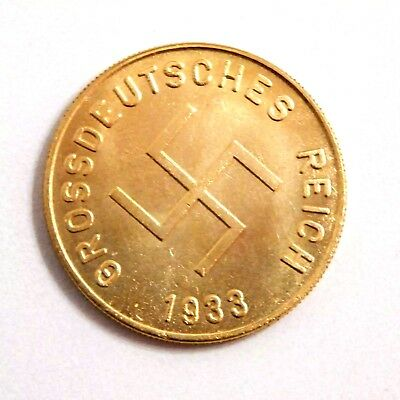Adolf Hitler 1933 / Medal-Coin / Iii Reich / Germany /ww - 2