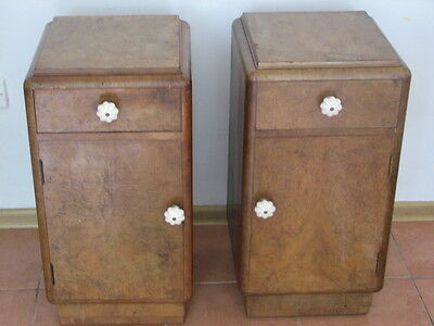 Vintage Bedside Cabinets - Matching Pair !