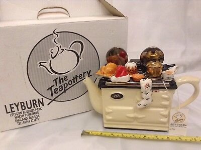 New Boxed Teapottery Swineside Novelty Collectable Christmas Aga Great Condition