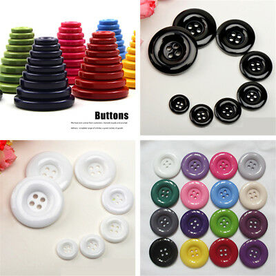 15-34MM  Round 4 Holes Resin Buttons Flower arrangement art DIY Sewing Craft Toy