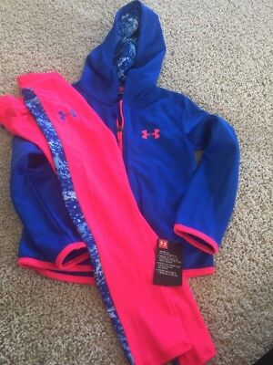 Under Armour Girls Size 5 Set Hoodie Leggings New $45 Set Outfit