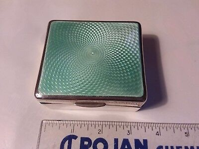 Sterling Silver Hallmarked Enameled Lidded Box With Liner