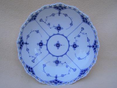 "Royal Copenhagen - Blue "" Full Lace "" 1St Quality Pierced Bowl"