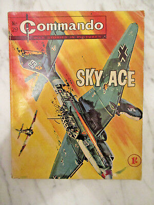 Commando War Stories In Pictures Comic Number 29.1962 Sky Ace