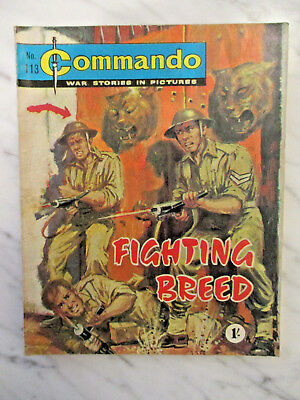COMMANDO WAR STORIES IN PICTURES COMIC NUMBER 113.196O's FIGHTING BREED