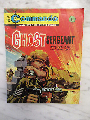 Commando War Stories In Pictures Comic Number 165.1962 Ghost Sergeant