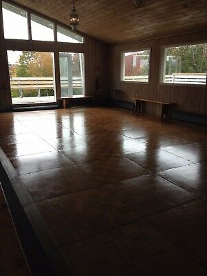 Portable Wooden Dance Floor 18'X30' ea. pc. is 3'x3' frames and hardware incl.