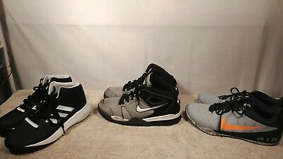 Lot of 3 mens athletic shoes size 11 nike & adidas