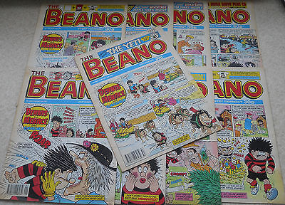 Beano Comics From 1993, Numbers On The Listing