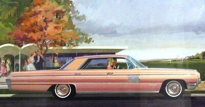 1962 Oldsmobile 98 Holiday Automobile ORIGINAL Styling Art Painting md279