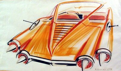 1958 Chrysler Rocket Concept Automobile Detroit Styling Art Painting md306