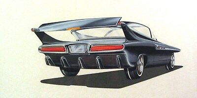 1961 Chrysler Turbo Concept Automobile Detroit Styling Art Painting Cody md319