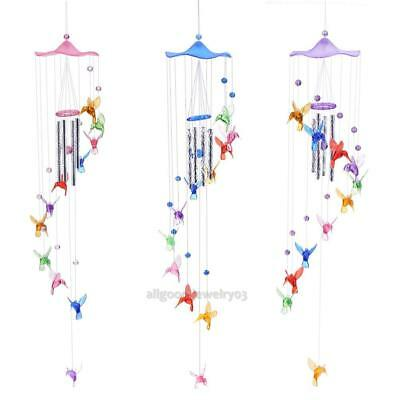 Creative Lucky Humming Bird Wind Chime Bells Home Hanging Ornament Decor Gift
