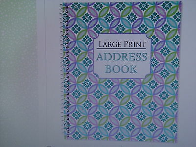 NEW Large Print Address Book, 56 Pages