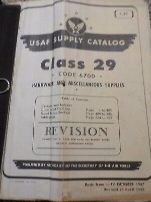 FULL BOOK Illustrated Stock List Class 29 Aircraft Airplane Hardware Army