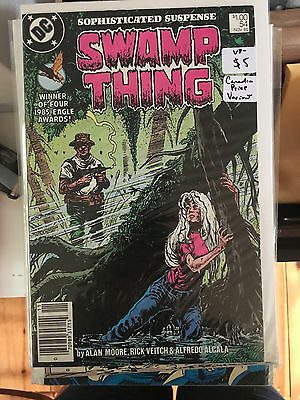 SWAMP THING #54 VF- 1st Print CANADIAN PRICE VARIANT Newsstand ALAN MOORE