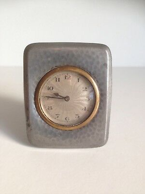 ANTIQUE ART NOUVEAU PEWTER CLOCK TUDRIC / LIBERTY & Co 01469