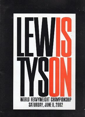 VERY RARE: Press pack in excellent condition, Lennox Lewis-Mike Tyson 2002