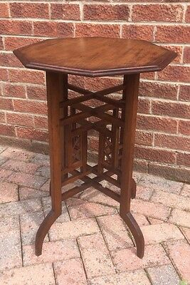 Chinese Chippendale Style Mahogany Hexagonal Occasional/side/wine Table