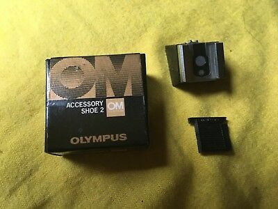 Olympus Accessory Shoe 2 for OM-2 with Box & Cover !