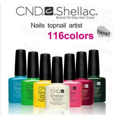 1Pc New CND Shellac Soak Off UV LED Gel Nail Polish 116 Color